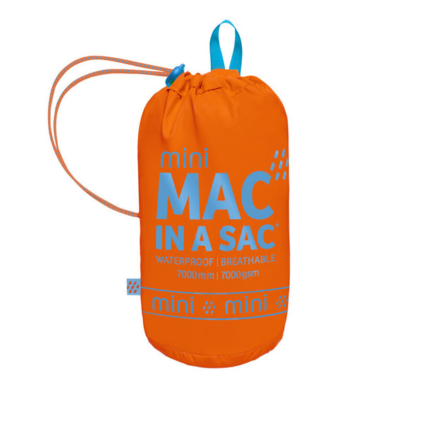 Mac in a Sac Mini Neon Waterproof Packaway Jacket - Neon Orange