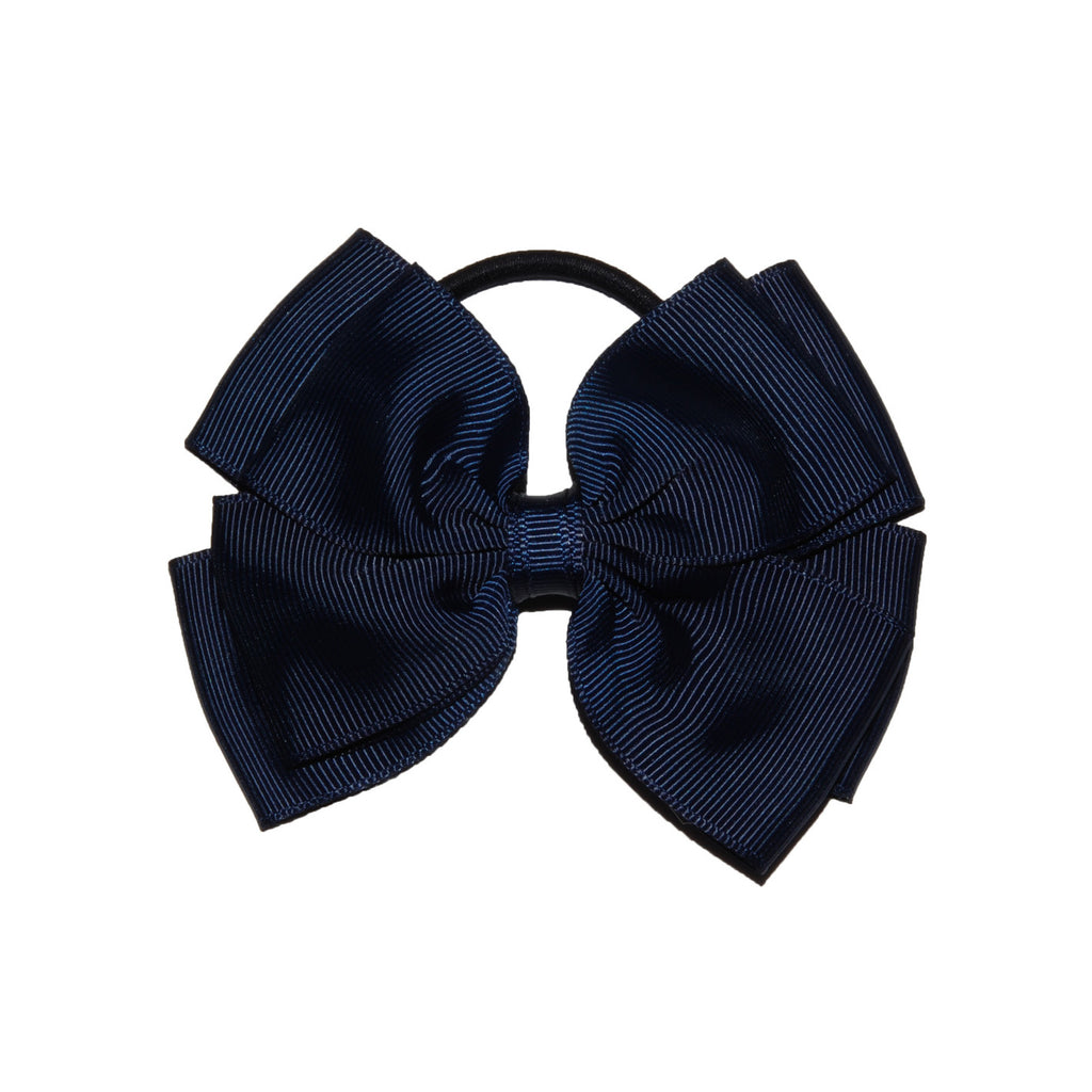 Opal Bow Hair Bobble Navy