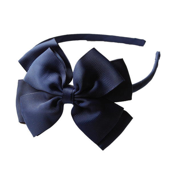 Opal Bow Headband Navy