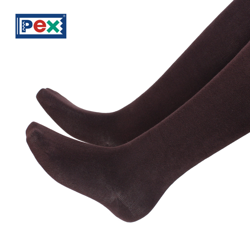 Pex Sunset 2 Pair Pack Cotton Rich Brown Tights