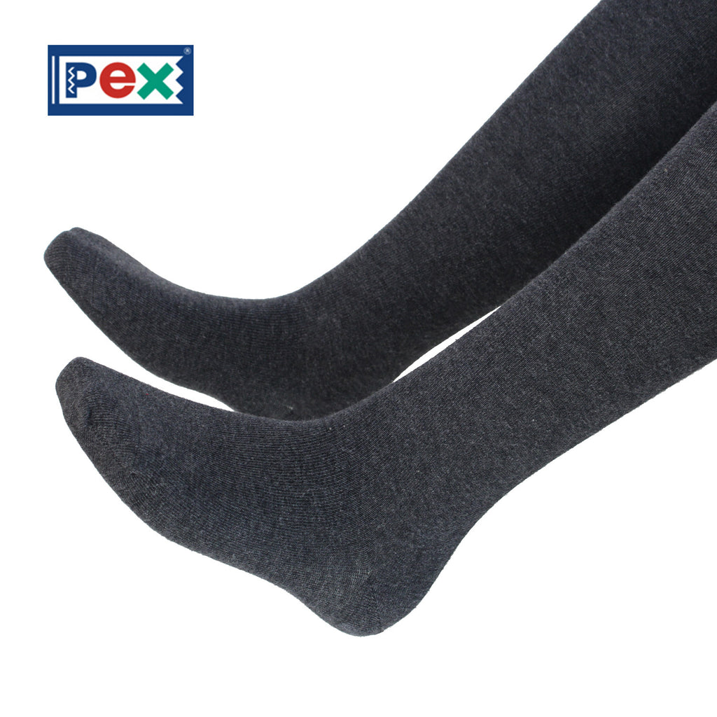 Pex Sunset 2 Pair Pack Cotton Rich Charcoal Grey Tights