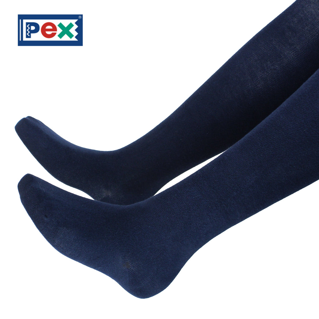 Pex Sunset 2 Pair Pack Cotton Rich Navy Blue Tights