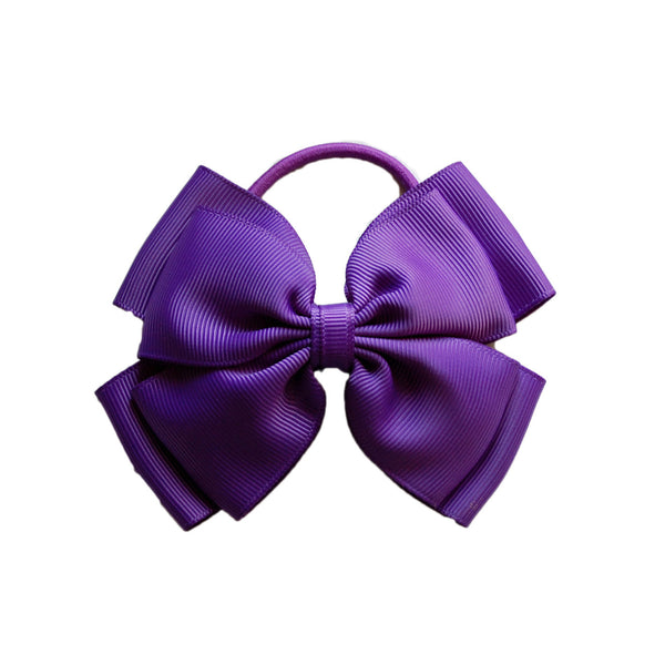 Opal Bow Hair Bobble Purple
