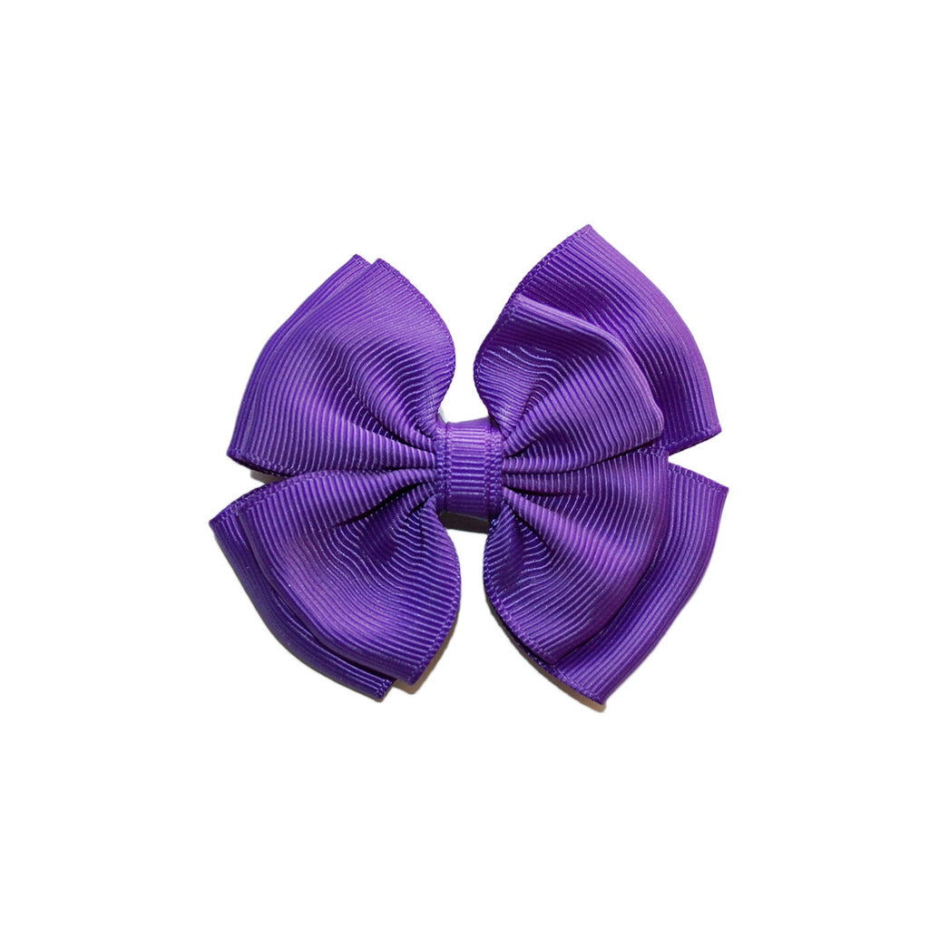 Opal Bow Hair Clip Purple