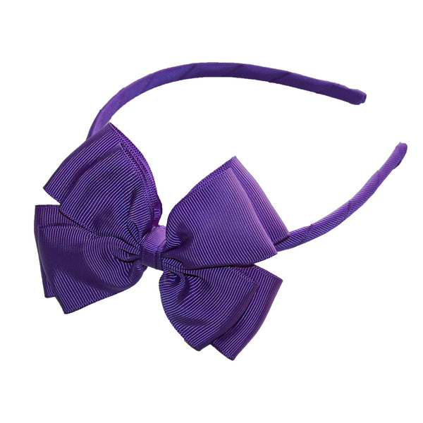 Opal Bow Headband Purple