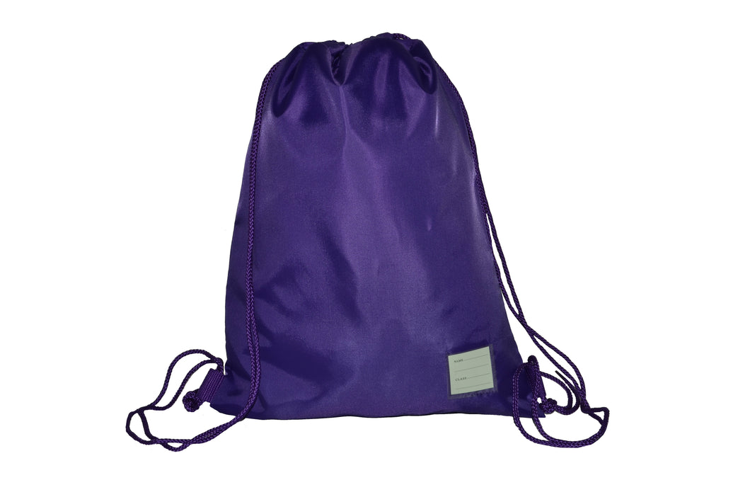 Rucksack Style Gym Bag Purple