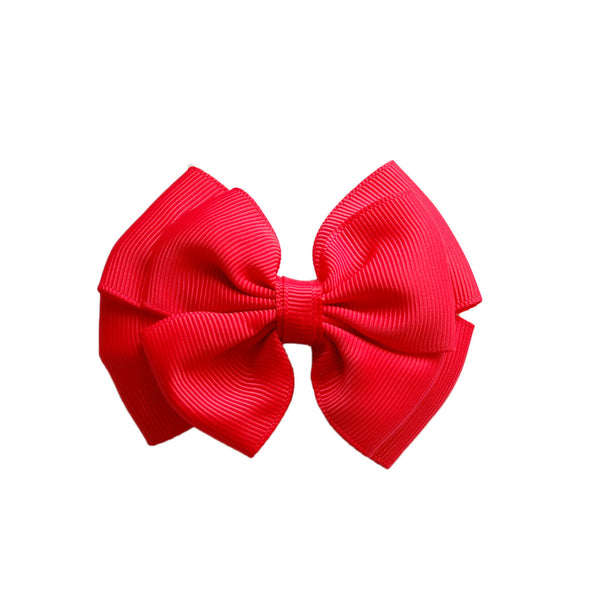 Opal Bow Hair Clip Red