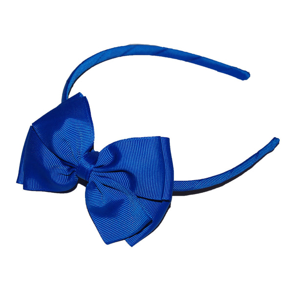 Opal Bow Headband Royal