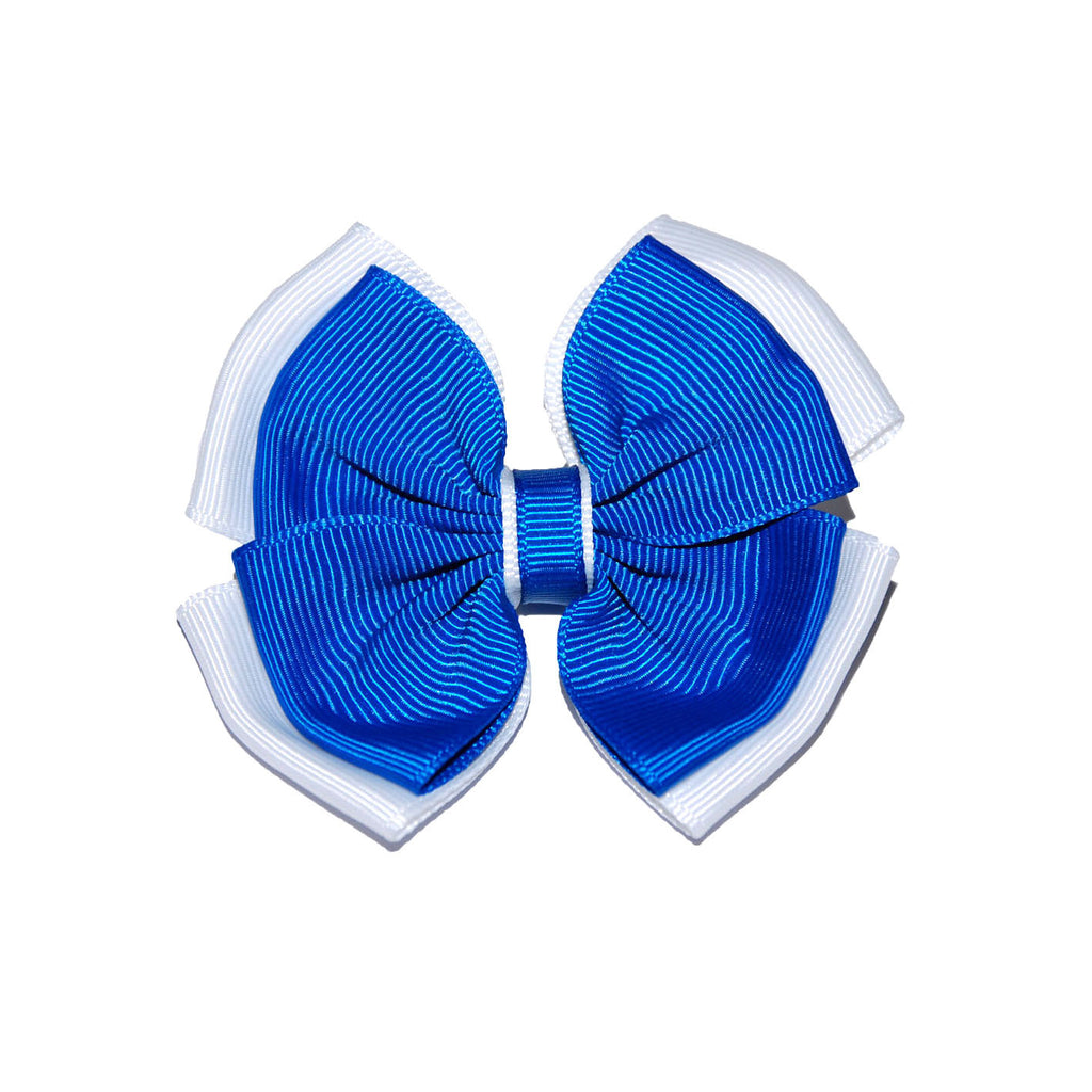 Opal Bow Hair Clip Royal / White