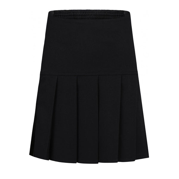 Black Fan Pleat Skirt
