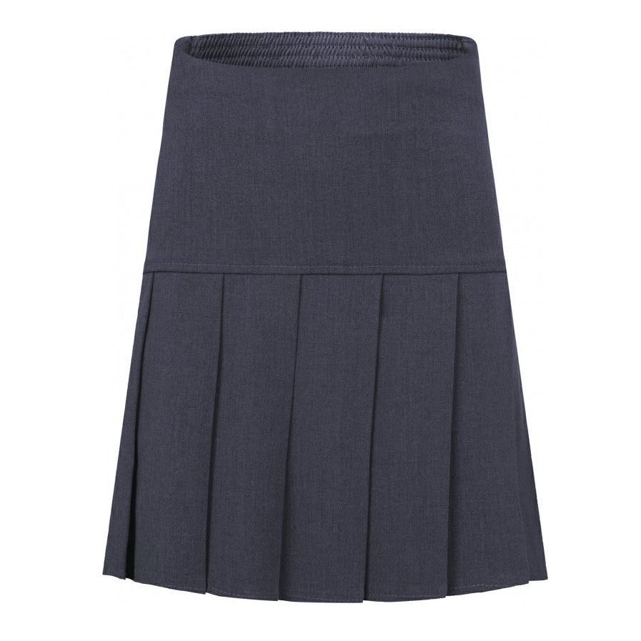 Grey Fan Pleat Skirt