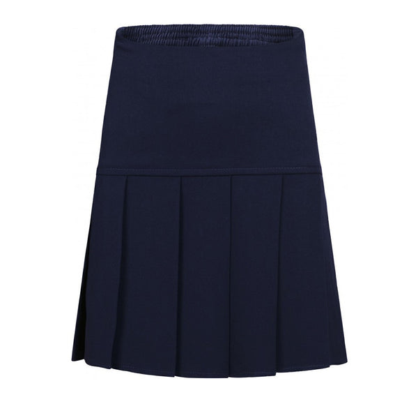 Navy Fan Pleat Skirt