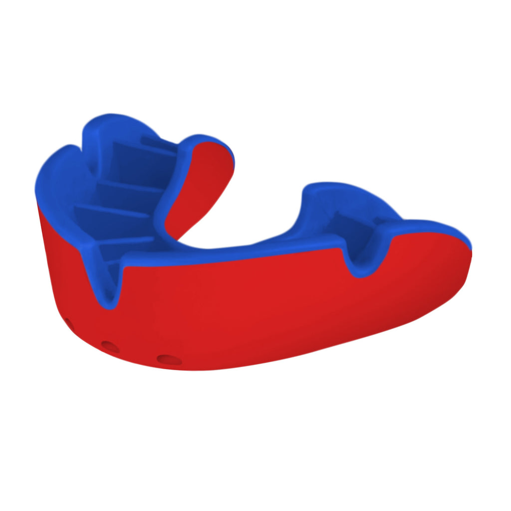 Opro Shield Silver Mouth Guard - Red/Blue