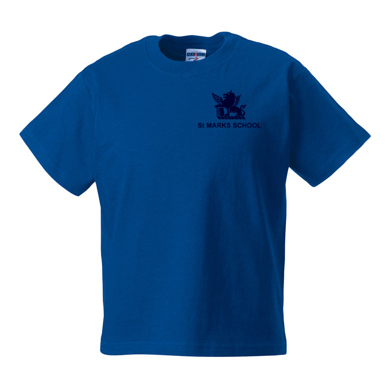St Mark's House Colour PE T-Shirt - Blue