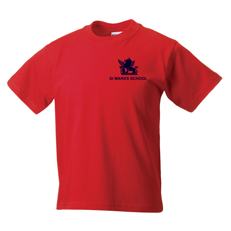 St Mark's House Colour PE T-Shirt - Red