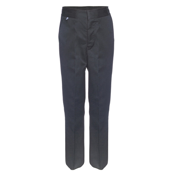 Flat Front Slim Fit Boys Grey School Trousers by Innovation