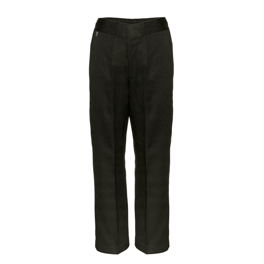 Flat Front Sturdy Fit Boys Black School Trousers by Innovation