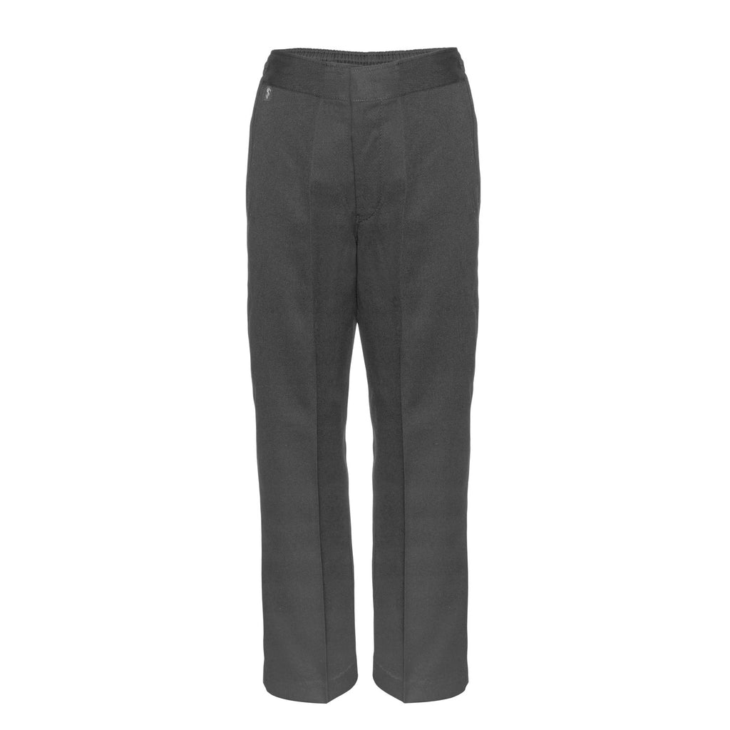 Flat Front Sturdy Fit Boys Grey School Trousers by Innovation