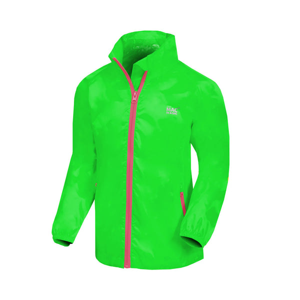 Mac in a Sac Mini Neon Waterproof Packaway Jacket - Neon Green