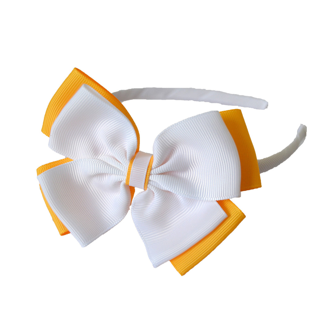 Opal Bow Headband White / Yellow