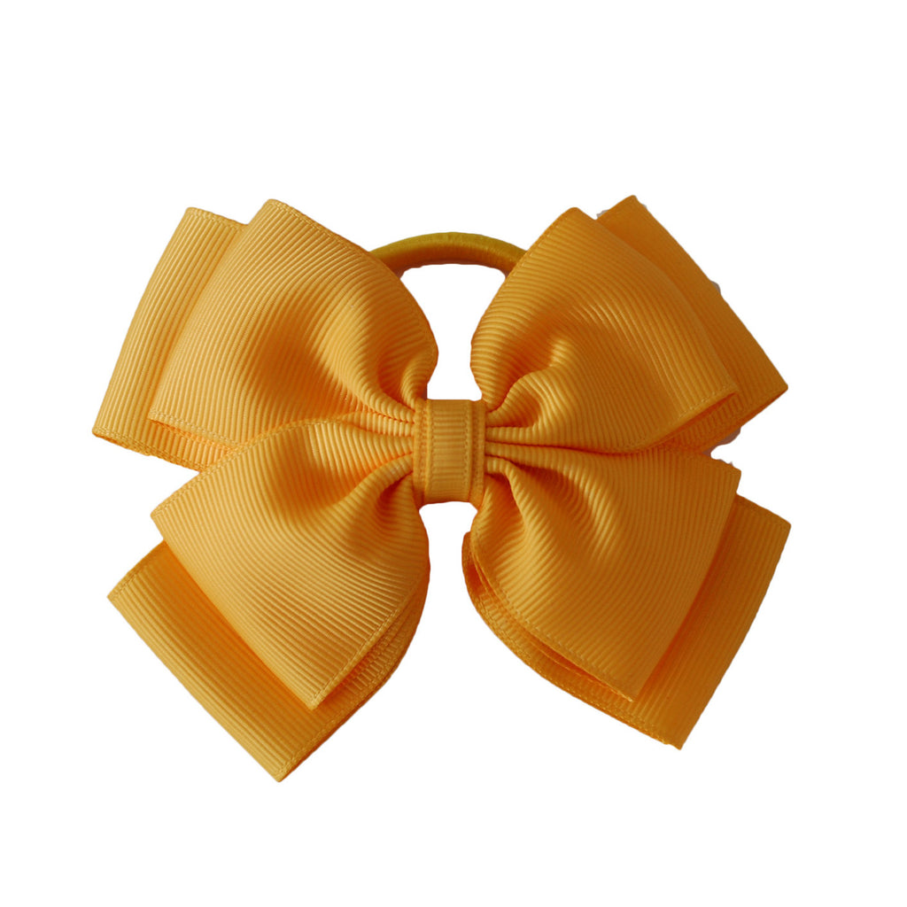 Opal Bow Hair Bobble Yellow