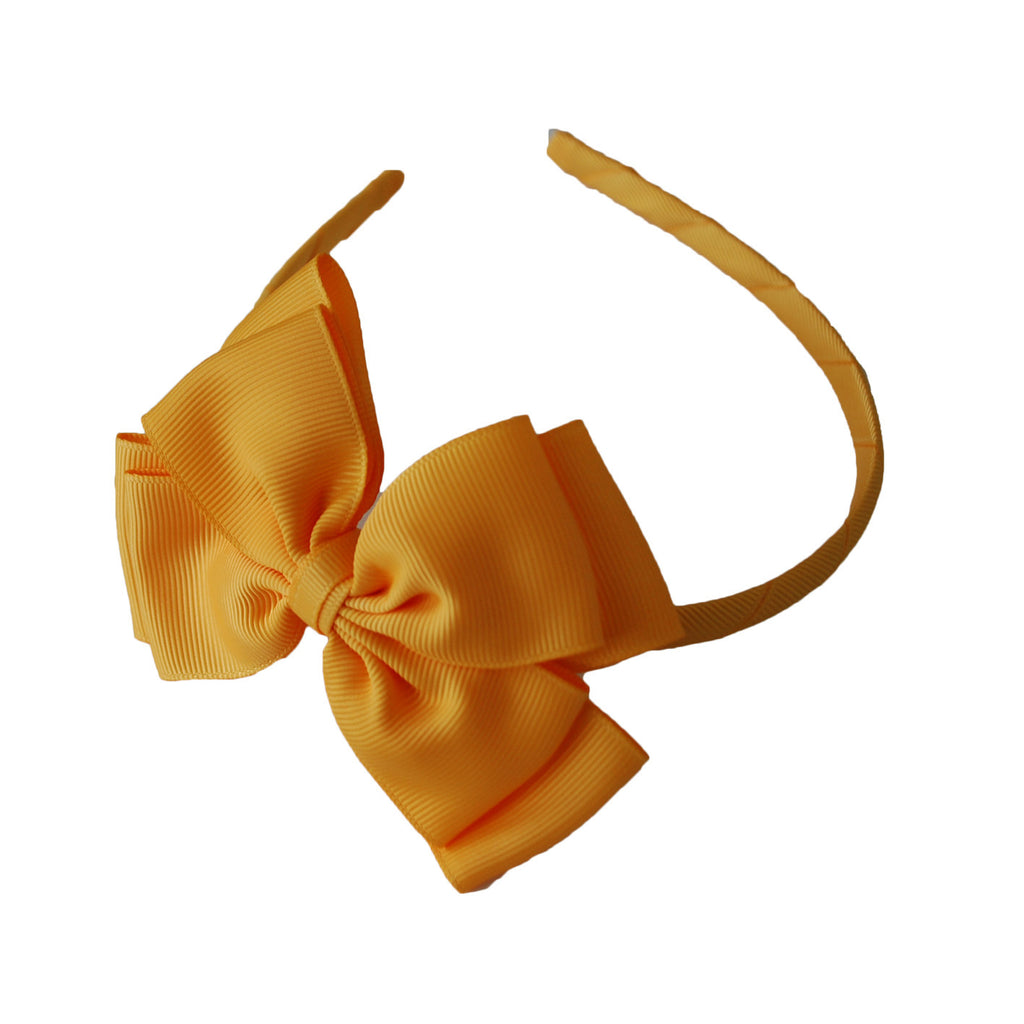 Opal Bow Headband Yellow
