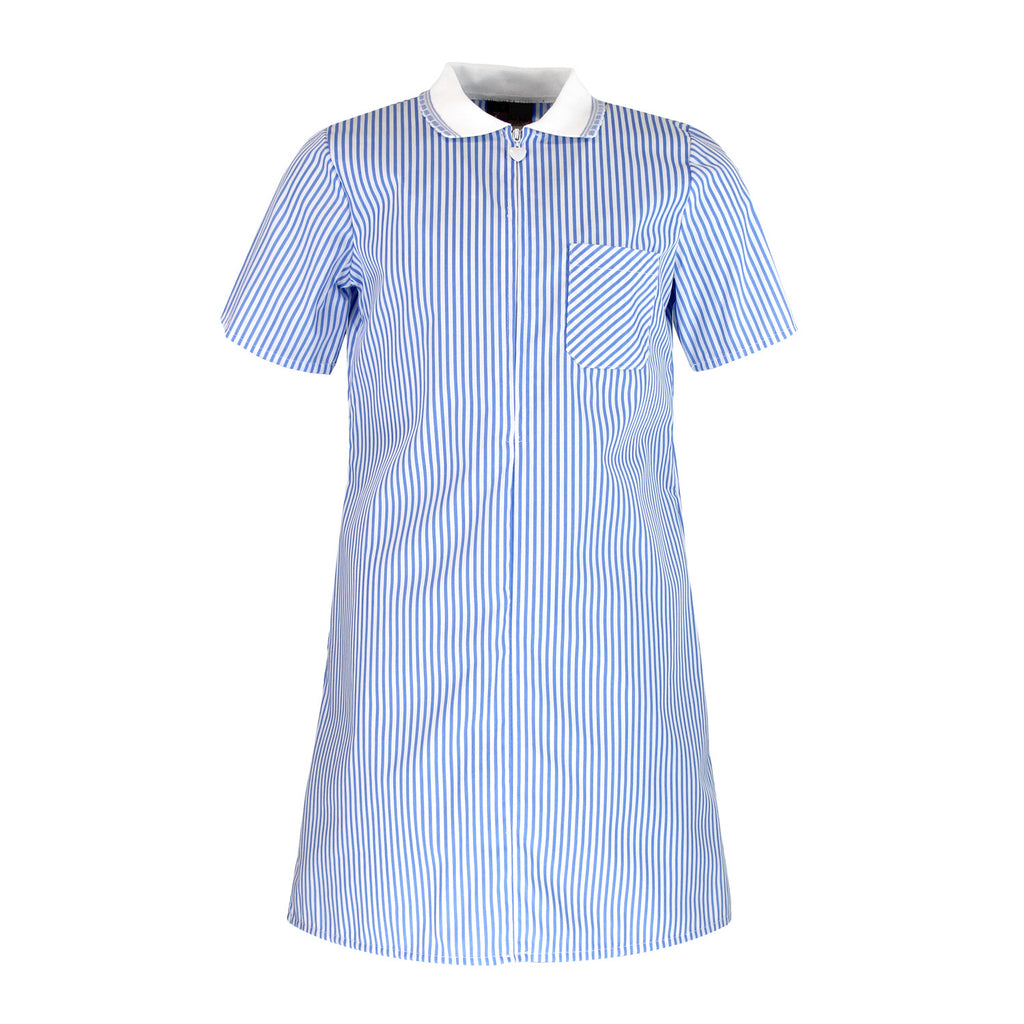 Sky Blue Stripe Summer Dress by Zeco