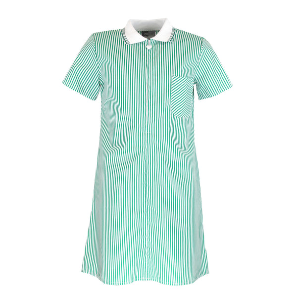 Green Stripe Summer Dress by Zeco