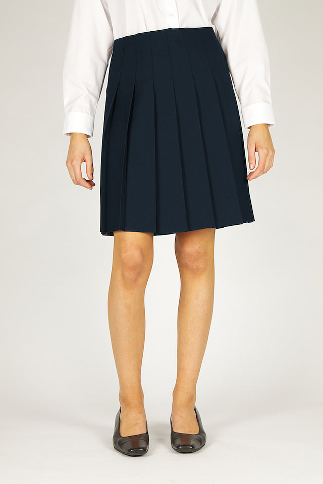 Senior Navy Stitch Down Pleat Skirt