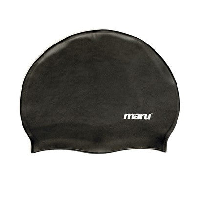Maru Silicone Swim Hat - Black