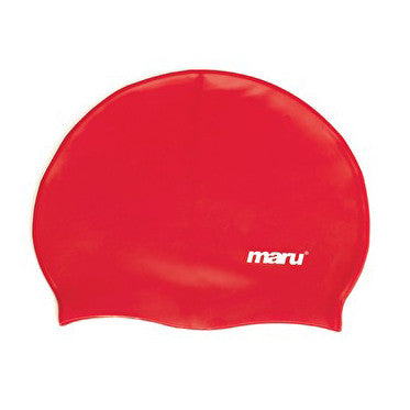 Maru Silicone Swim Hat - Red