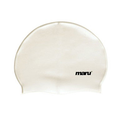 Maru Silicone Swim Hat - White
