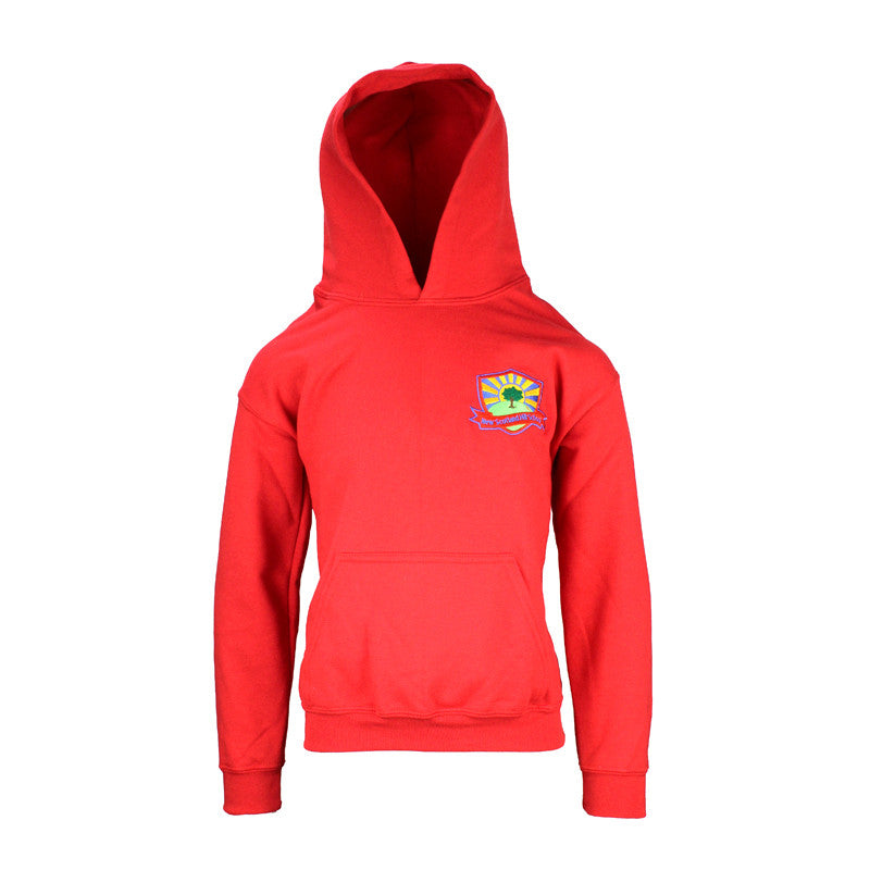 New Scotland Hill PE Hooded Top - Red