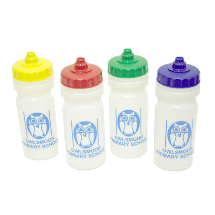 Owlsmoor Drinks Bottle with house colour top