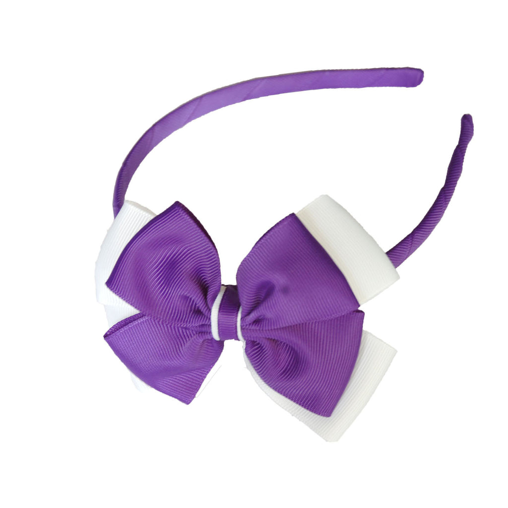 Opal Bow Headband Purple / White