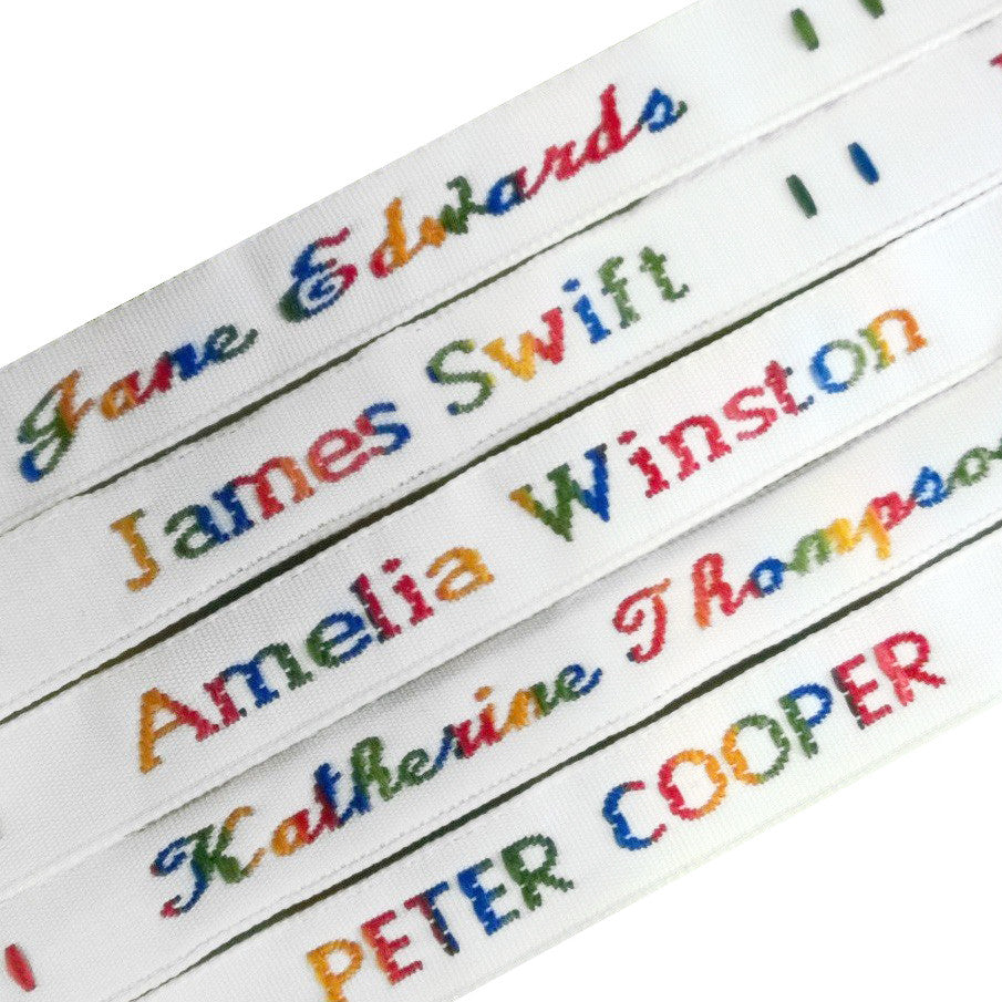 Woven Rainbow Name Tapes