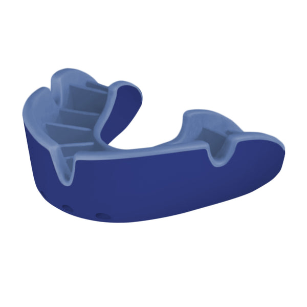 Opro Shield Silver Mouth Guard - Blue/Light Blue