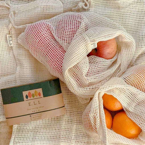 Eco Loving Ideas Cotton Mesh Pouch Set