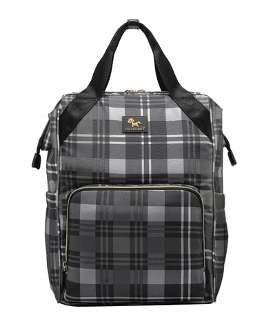Colorland BP156-C Bolide Baby Changing Backpack Black & Grey Grids