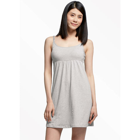 Essentials Maternity & Nursing Dress with built-in gray