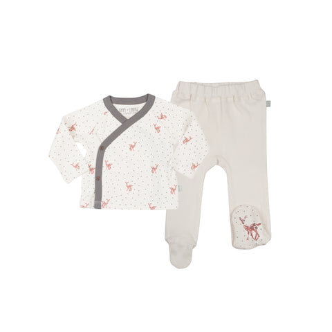 Finn + Emma - Fawn Collection Kimono and Footed Pant Set