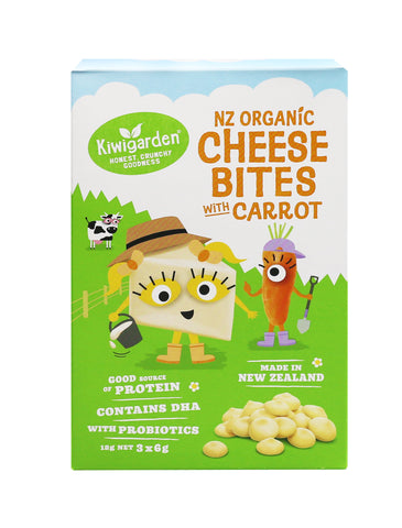 Kiwigarden NZ Organic Cheese Bites with Carrot