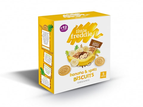 Little Freddie Banana and Spelt Biscuits