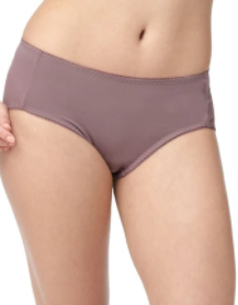Antibacterial and Odorless Maternity Midi Briefs 2 pack, Taro