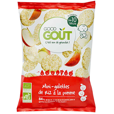 Good Goût  - Mini Rice Cakes with Apple 40g (10 mos)