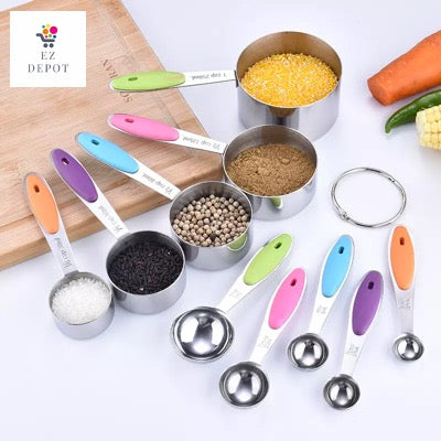 EZ Depot - 10 pc Measuring Cups and Spoons