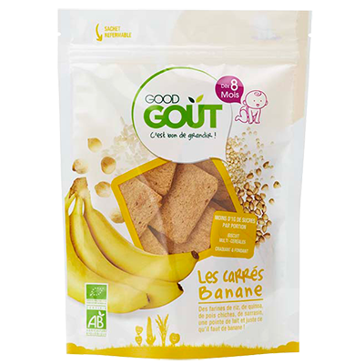 Good Goût  - Squares Banana 50g