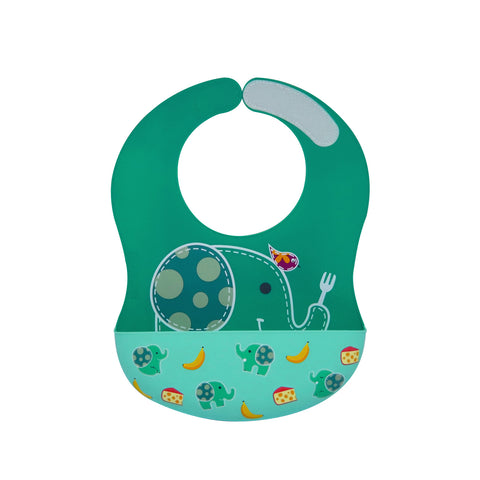 Wide Coverage Silicone Bib