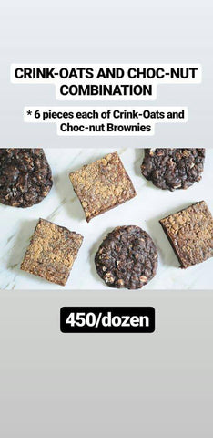 Crink-Oats & Choc-Nut Brownies