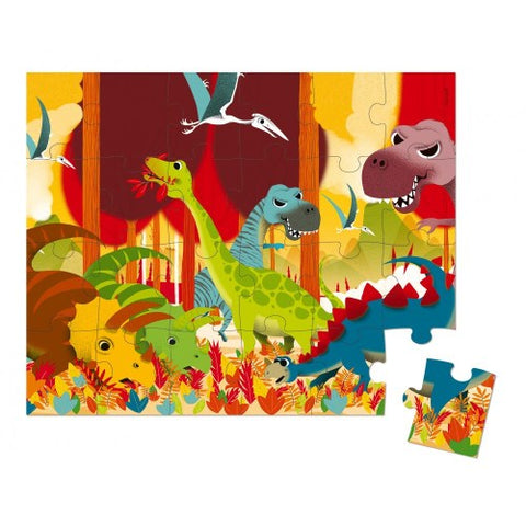 Hat Boxed 24 PCS Puzzle Dinosaurs